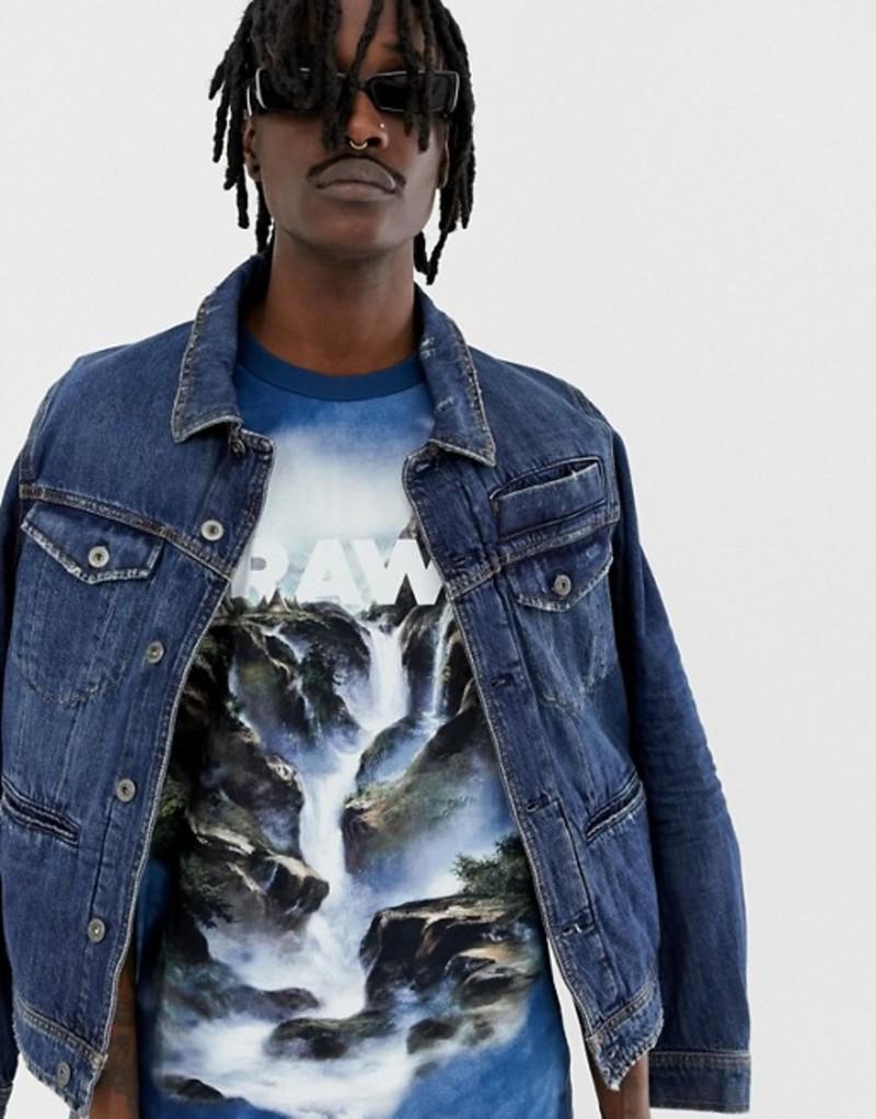 ジースター メンズ Tシャツ トップス G-Star x Jaden Smith water loose t-shirt in blue Teal blue ao