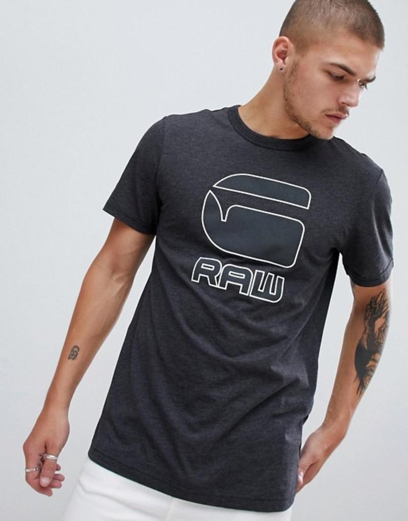 ジースター メンズ Tシャツ トップス G-Star chest logo t-shirt in black Black
