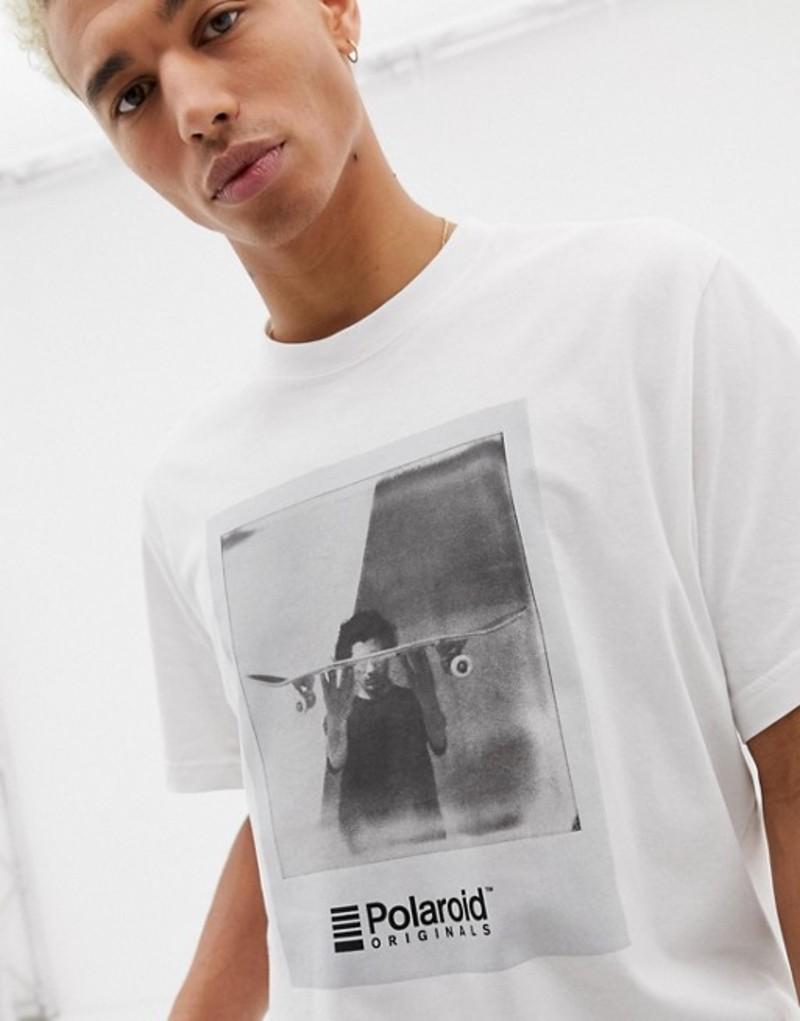 エレメント メンズ Tシャツ トップス Element T-Shirt With Polaroid Chest Print In White White