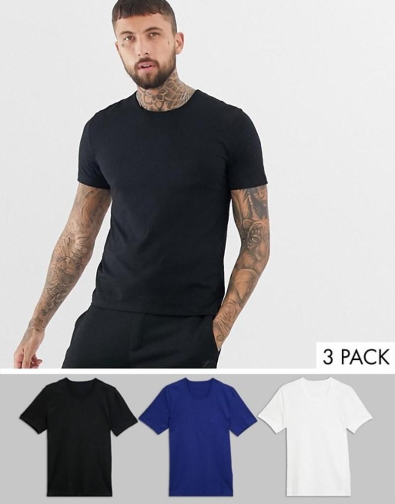 ボス メンズ Tシャツ トップス BOSS bodywear 3 pack t-shirts Multi