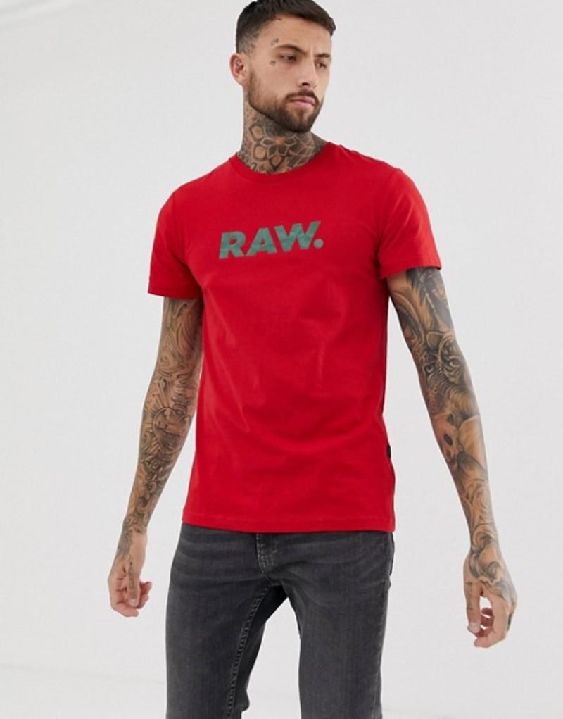 ジースター メンズ Tシャツ トップス G-Star Graphic RAW t-shirt in red Red