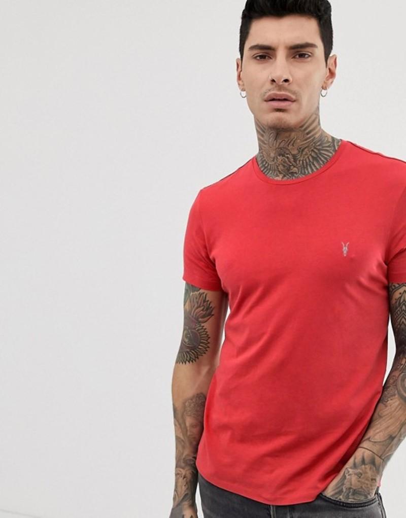 オールセインツ メンズ Tシャツ トップス AllSaints t-shirt in washed red Red