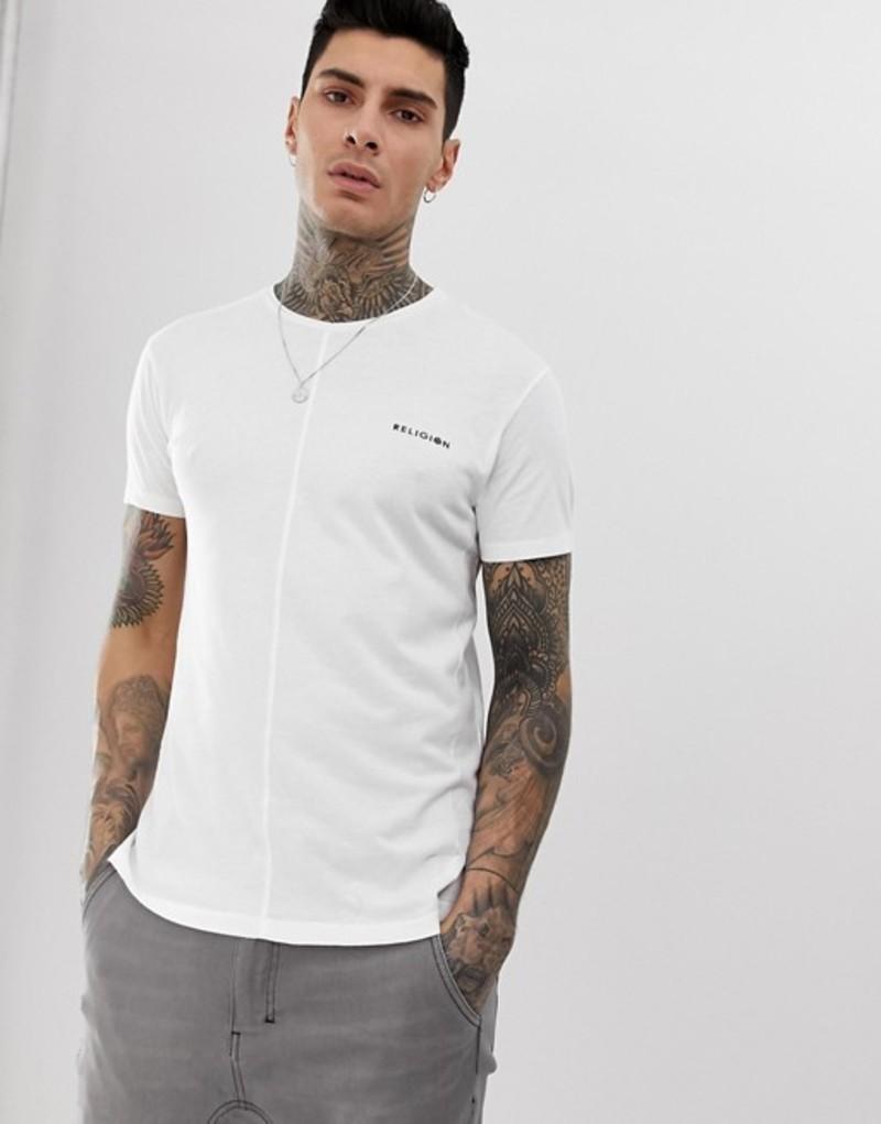 レリジョン メンズ Tシャツ トップス Religion t-shirt in white with side spilt White