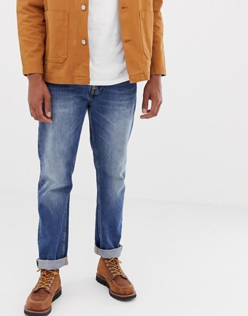ヌーディージーンズ メンズ デニムパンツ ボトムス Nudie Jeans Co Sleepy Sixten loose tapered jeans celestial orange Blue