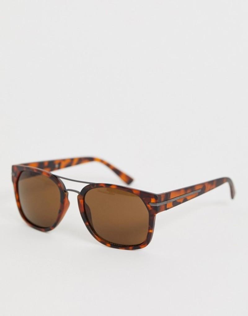 フレンチコネクション メンズ サングラス・アイウェア アクセサリー French Connection square sunglasses in tort Tort
