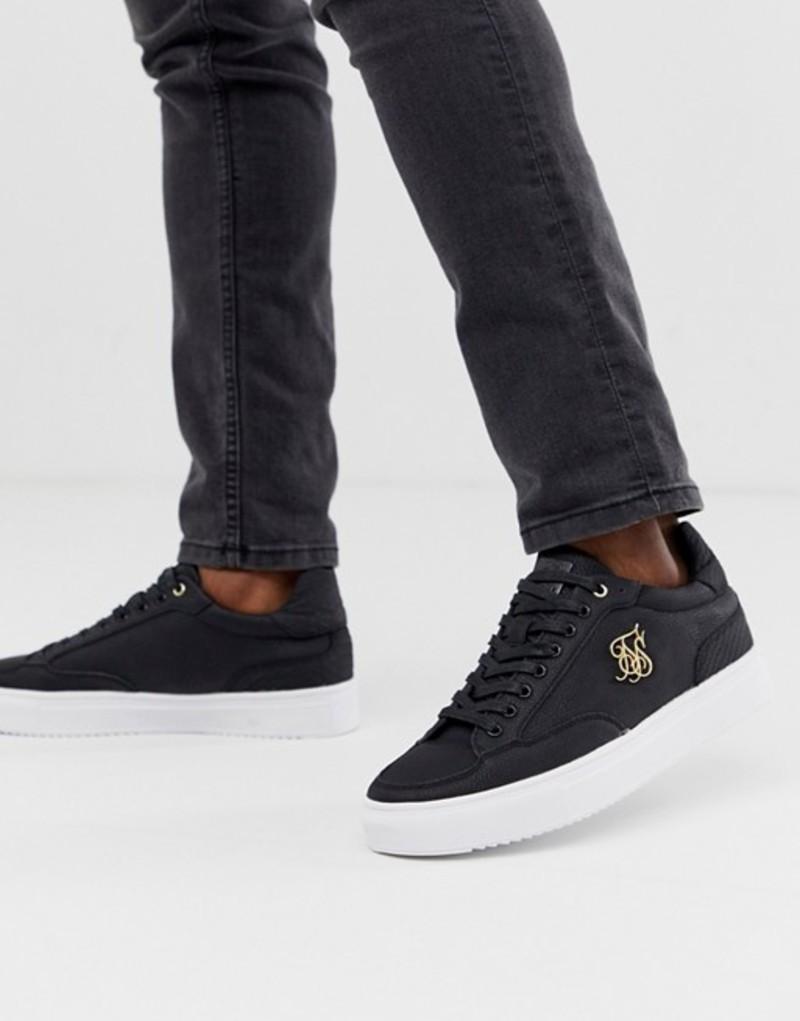 シックシルク メンズ スニーカー シューズ SikSilk sneakers in black Black