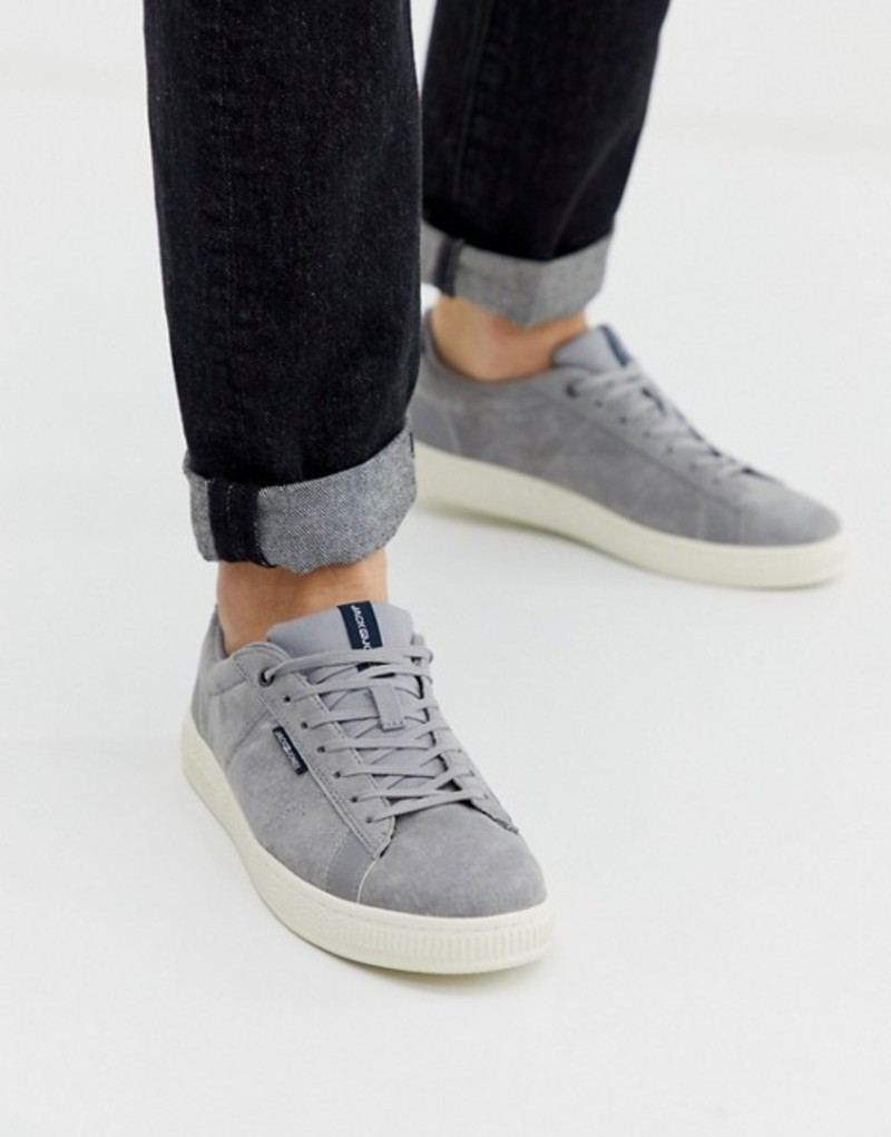 ジャック アンド ジョーンズ メンズ スニーカー シューズ Jack & Jones suede sneaker with comfort lining Silver sconce