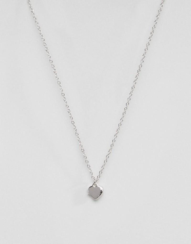 テッドベーカー レディース ネックレス・チョーカー アクセサリー Ted Baker Hara Tiny Heart Pendant Necklace Silver