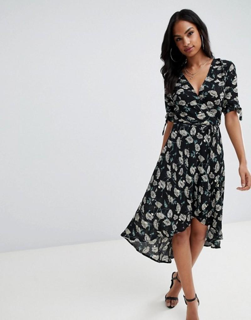 アックスパリ レディース ワンピース トップス AX Paris printed wrap midi dress Multi