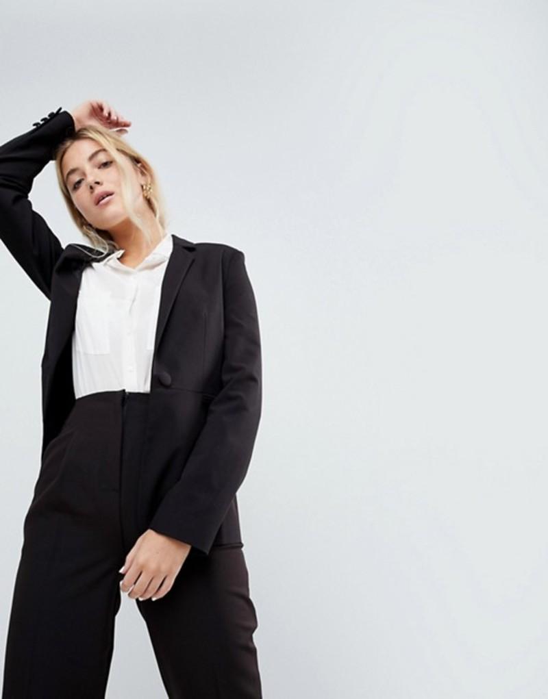 エイソス レディース ジャケット・ブルゾン アウター ASOS DESIGN mix & match tailored blazer Black