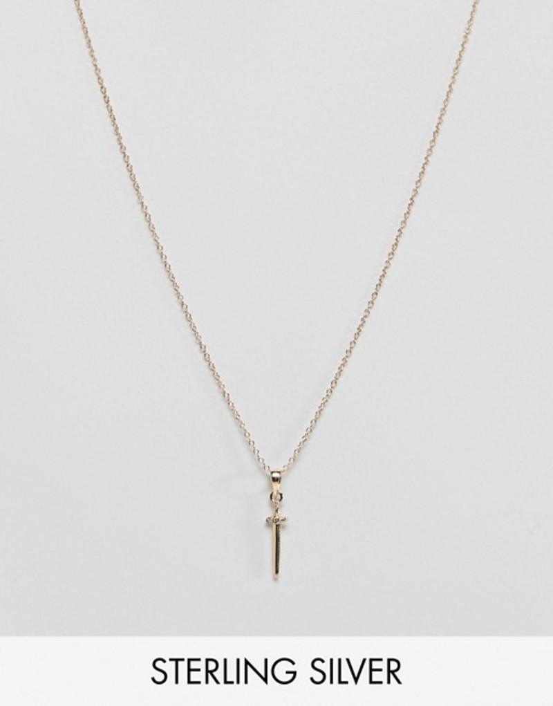 リーガルローズ レディース ネックレス・チョーカー アクセサリー Regal Rose sterling silver gold plated dagger pendant necklace Gold