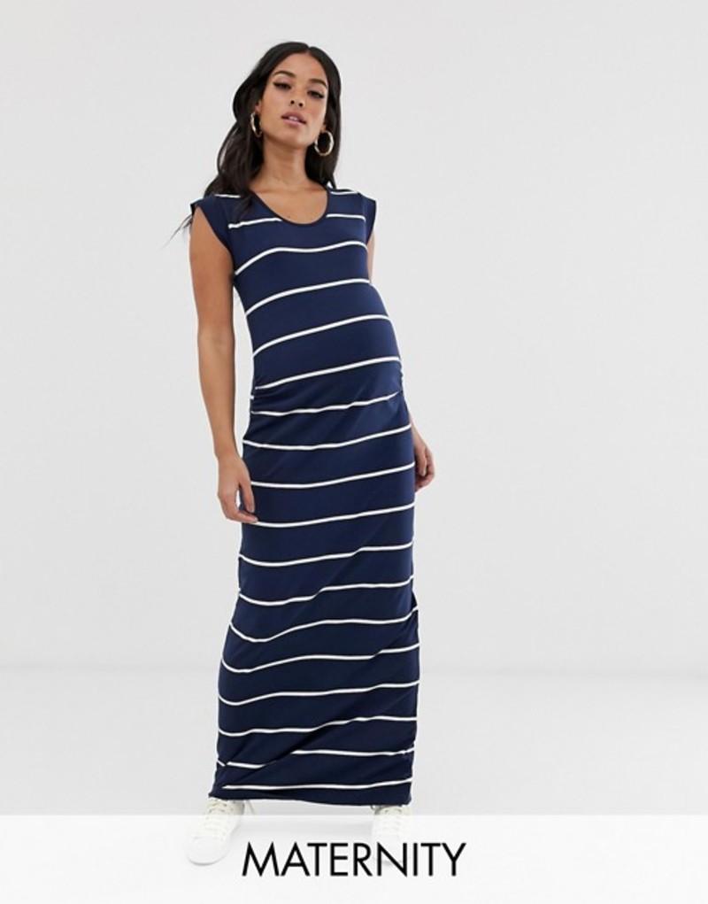 ママライシアス レディース ワンピース トップス Mamalicious maternity stripe maxi dress Multi