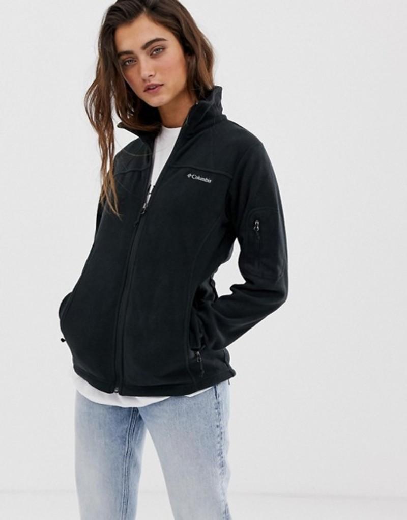 コロンビア レディース ジャケット・ブルゾン アウター Columbia Fast Trek II fleece jacket in black Black