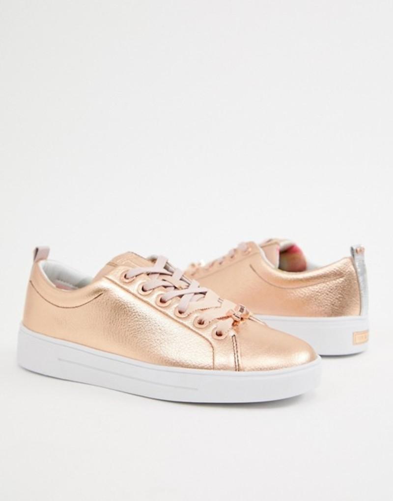 テッドベーカー レディース スニーカー gold シューズ Ted Baker シューズ leather lace leather up sneakers Rose gold, 犬首輪専門店 クリスタルポイント:aecd63b2 --- sunward.msk.ru