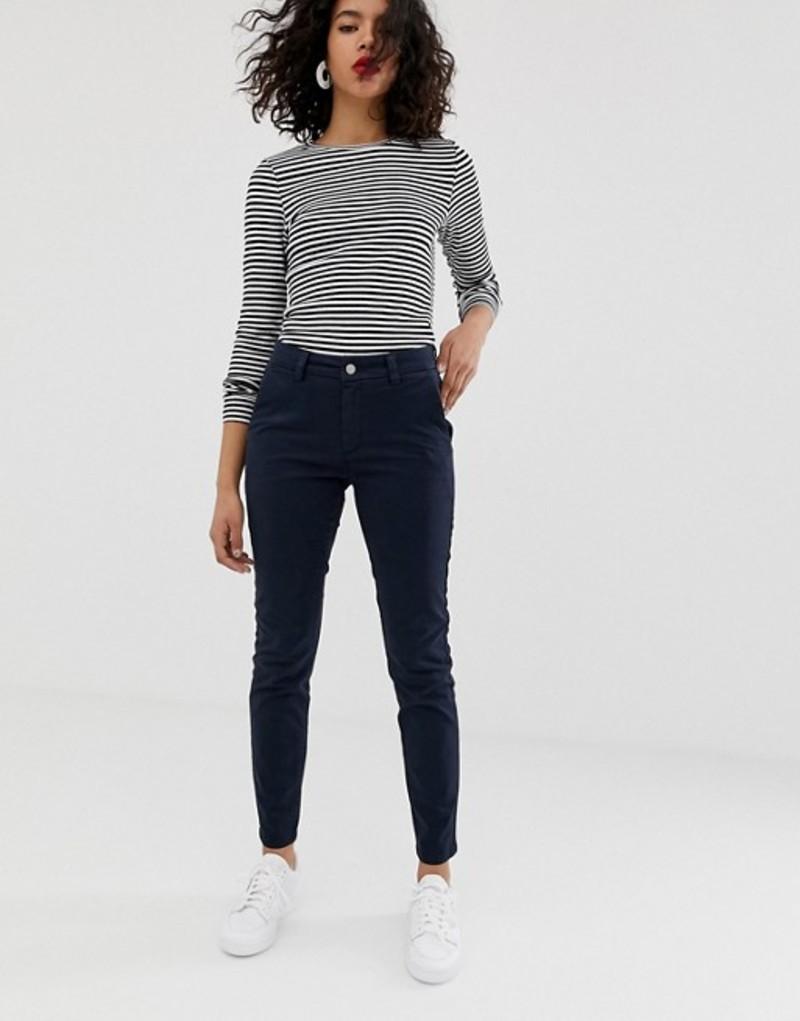 セレクティッド レディース カジュアルパンツ ボトムス Selected Femme chino pants Navy