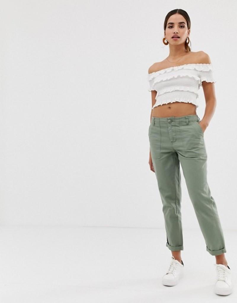 オアシス レディース カジュアルパンツ ボトムス Oasis utility pants Green