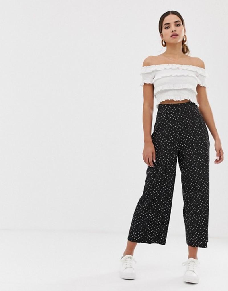オアシス レディース カジュアルパンツ ボトムス Oasis cropped wide leg pants in polka dot Multi