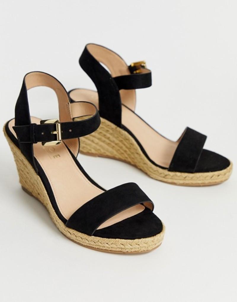 オフィス レディース サンダル シューズ OFFICE marbs wedge sandals Blk mf