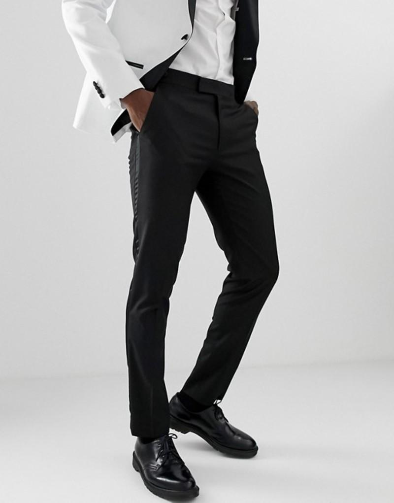 エイソス メンズ カジュアルパンツ ボトムス ASOS DESIGN skinny tuxedo suit pants in black Black