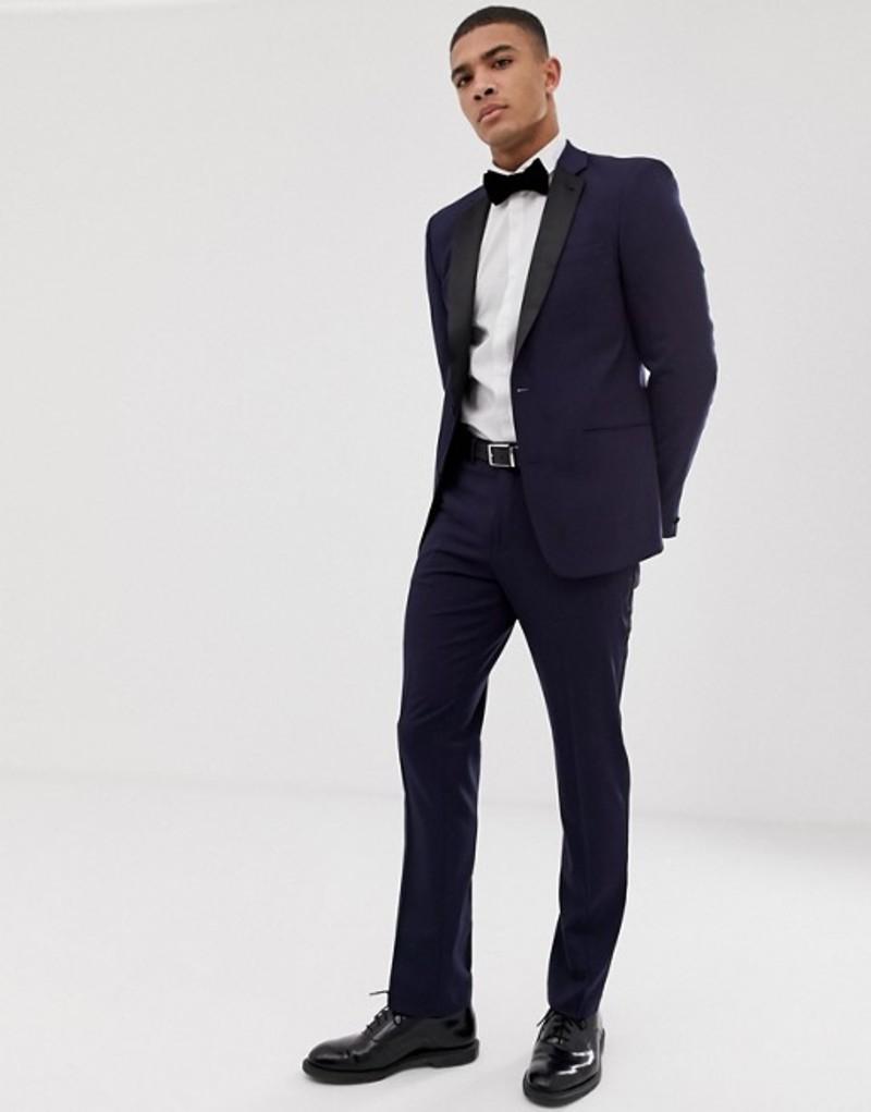 エイソス メンズ ジャケット・ブルゾン アウター ASOS DESIGN slim tuxedo suit jacket in navy Navy