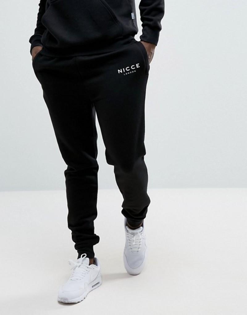 ニースロンドン メンズ カジュアルパンツ ボトムス Nicce skinny sweatpants in black Black