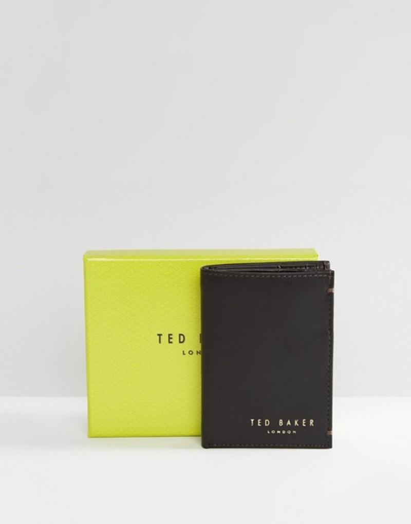 テッドベーカー メンズ 財布 アクセサリー Ted Baker Zacks bifold leather wallet Brown