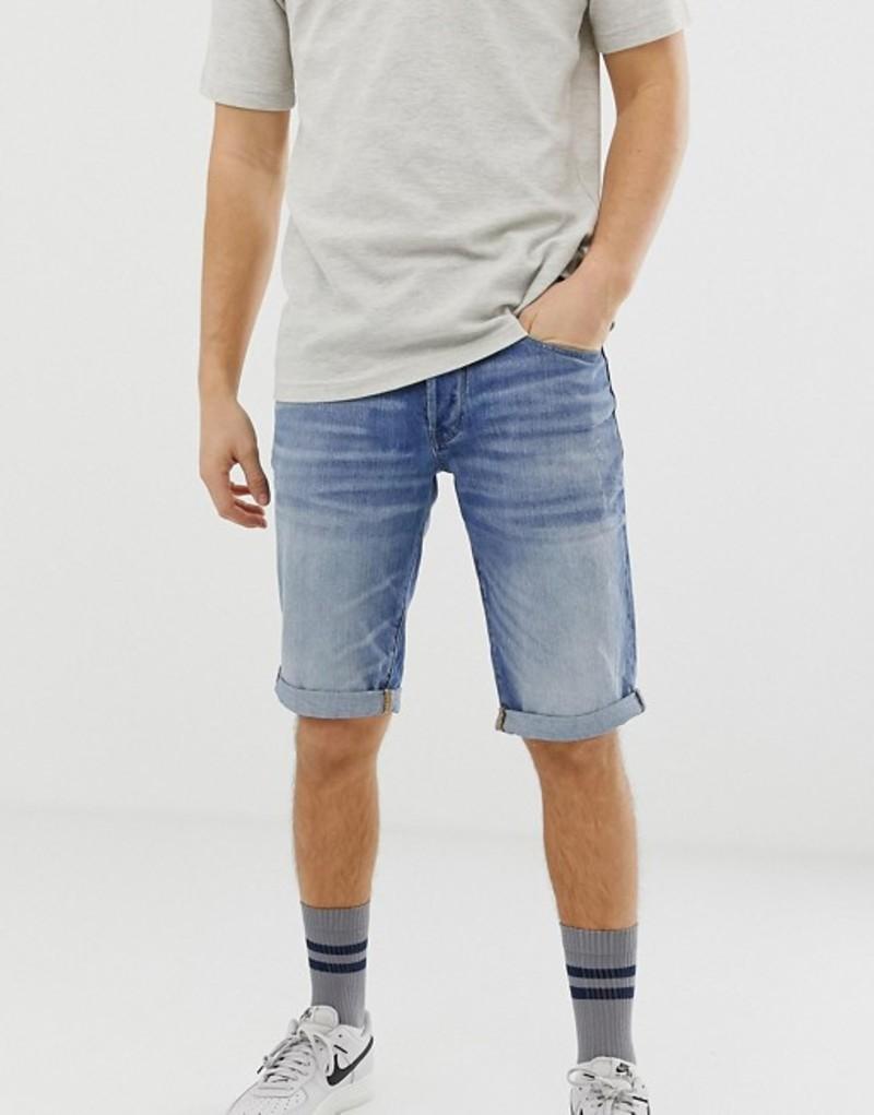 ジースター メンズ ハーフパンツ・ショーツ ボトムス G-Star 3301 light wash denim shorts Blue