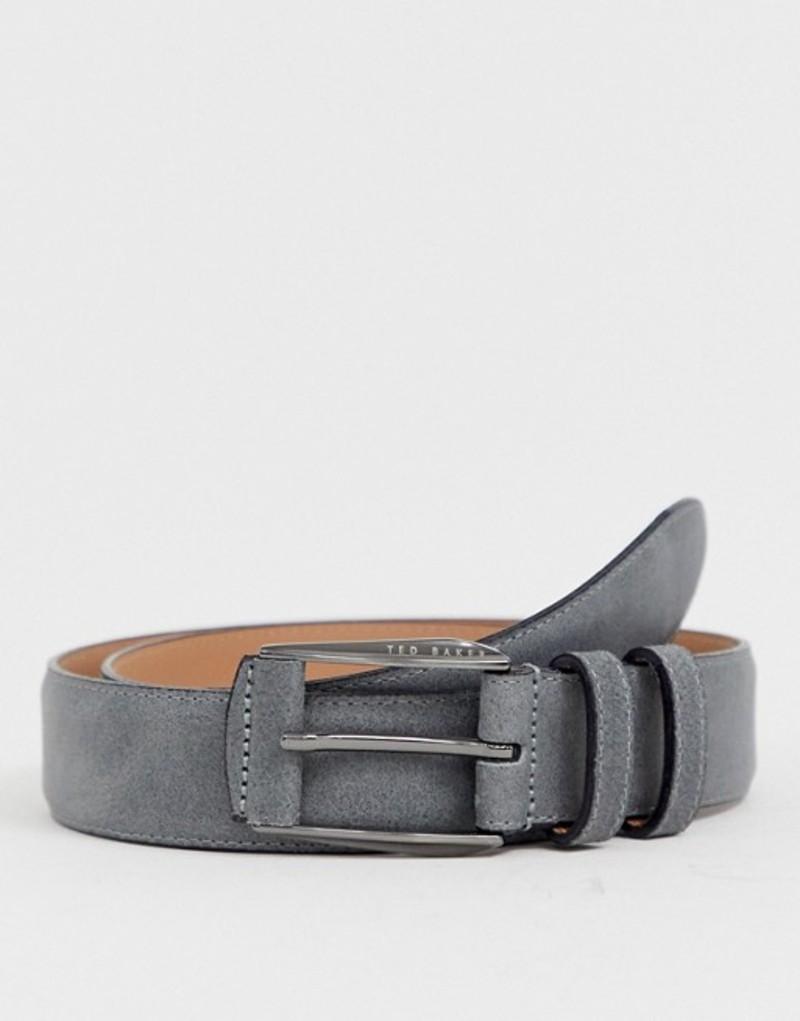 送料無料 サイズ交換無料 テッドベーカー メンズ アクセサリー ベルト Grey テッドベーカー メンズ ベルト アクセサリー Ted Baker Myke nubuck belt in gray Grey