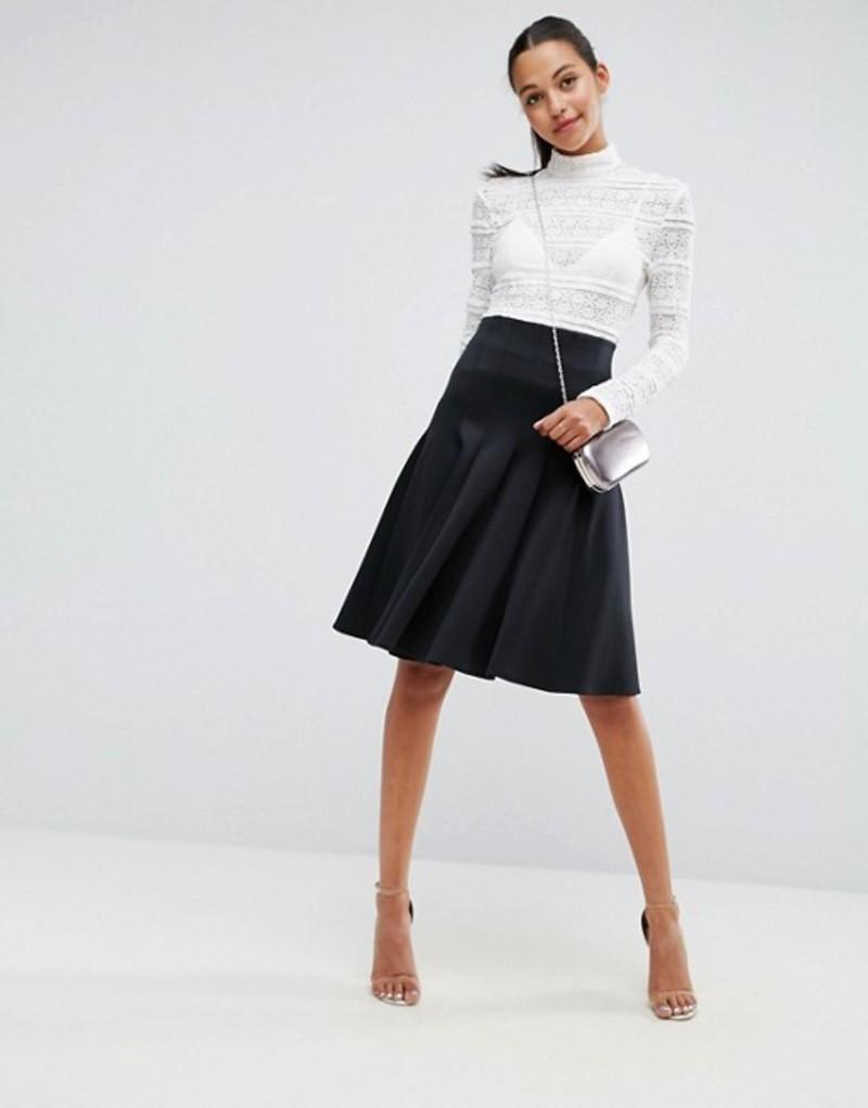 エイソス レディース スカート ボトムス ASOS Prom Skirt with High Waist in Scuba Black