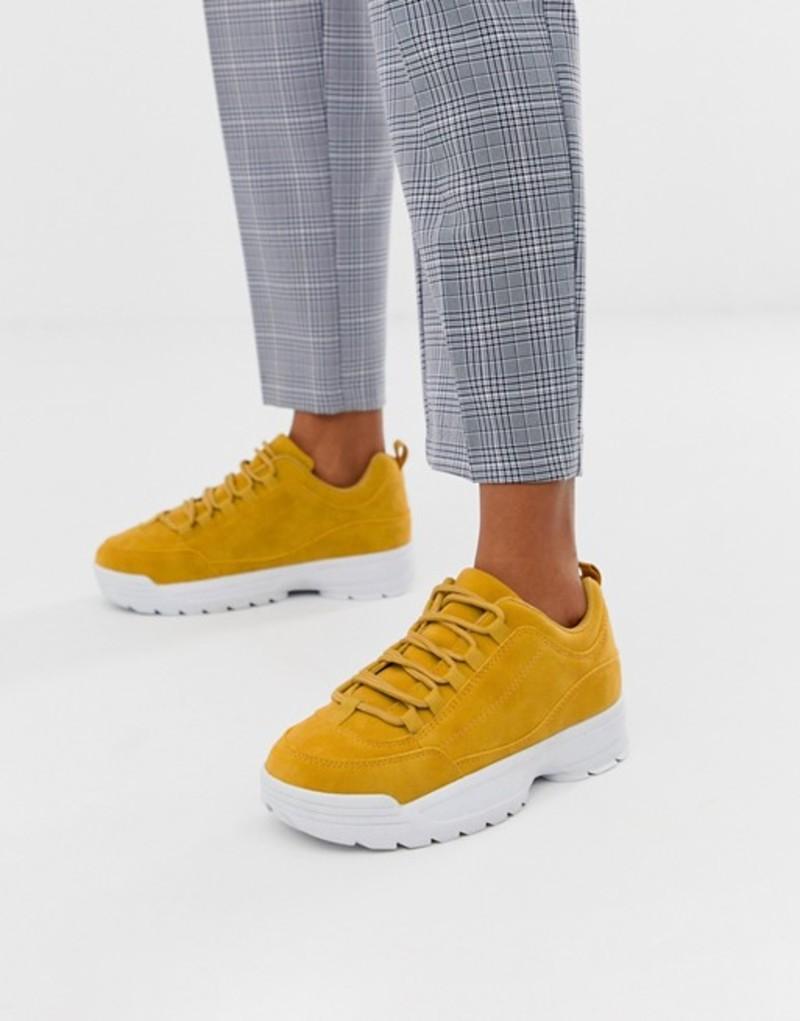 トリュフコレクション レディース スニーカー シューズ Truffle Collection chunky sneakers Mustard