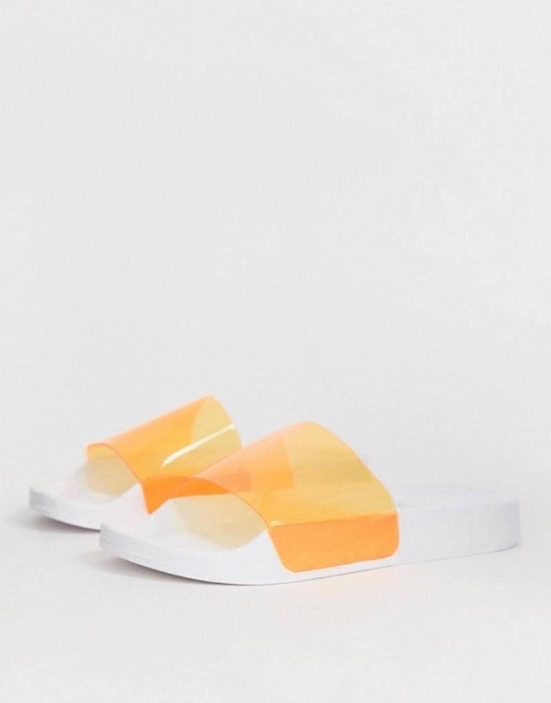 トリュフコレクション レディース サンダル シューズ Truffle Collection clear sliders Orange clear
