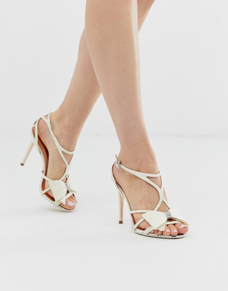 テッドベーカー レディース ヒール シューズ Ted Baker ivory satin bow detail heeled sandals Ivory