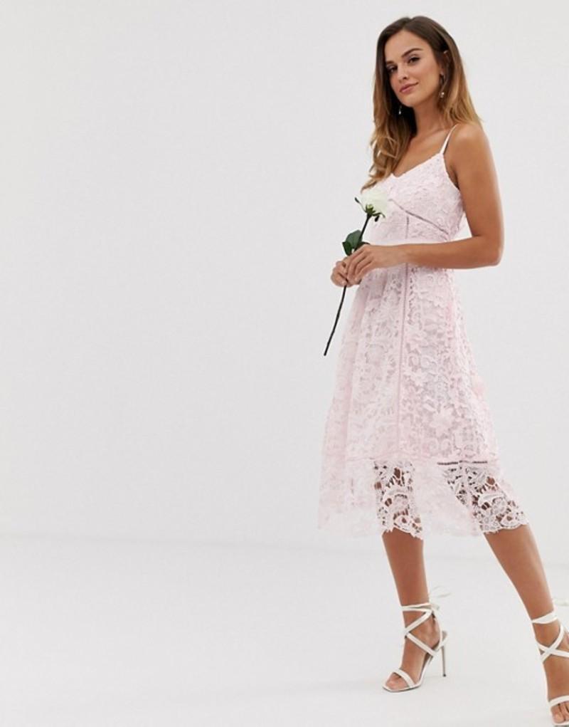 若者の大愛商品 テッドベーカー レディース ワンピース トップス Ted Baker bridal premium lace midi dress Pale pink, 帽子屋 Handy Caps 857d3c17