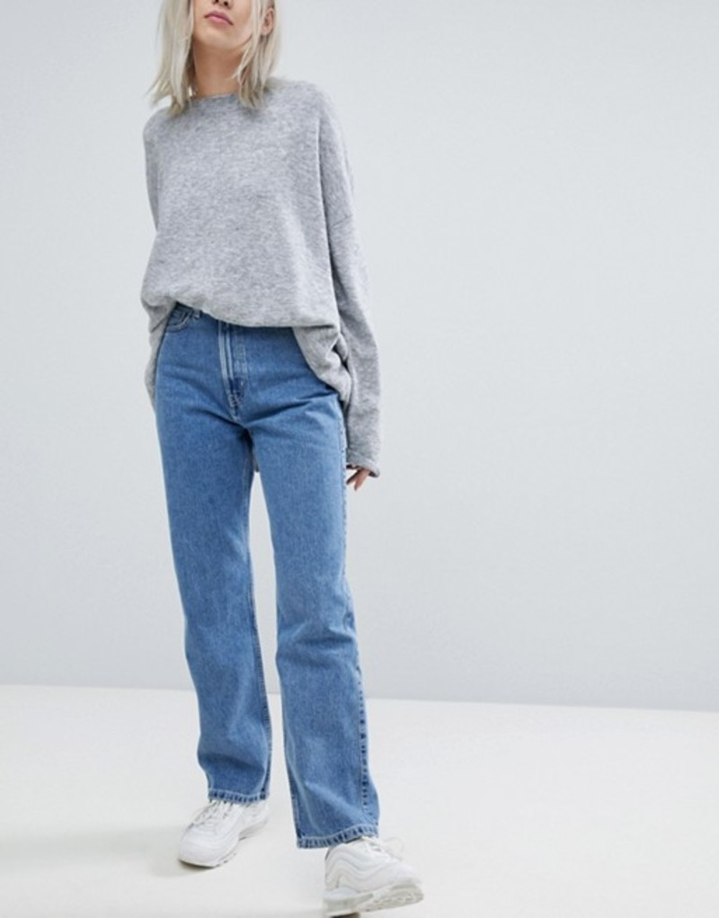 ウィークデイ レディース デニムパンツ ボトムス Weekday Row Blue Jeans Sky blue