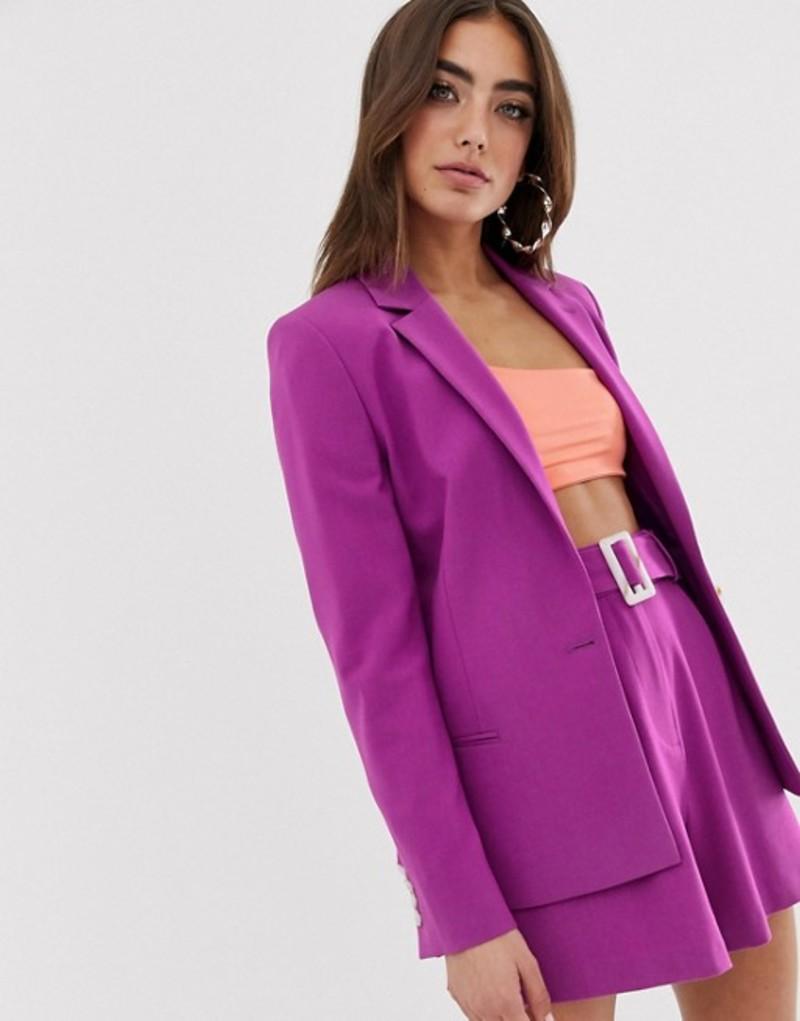 エイソス レディース ジャケット・ブルゾン アウター ASOS DESIGN forever suit blazer in purple Purple