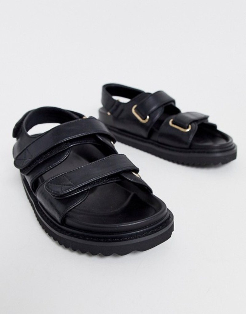 エイソス レディース サンダル シューズ ASOS DESIGN Forbidden chunky sandals in black Black