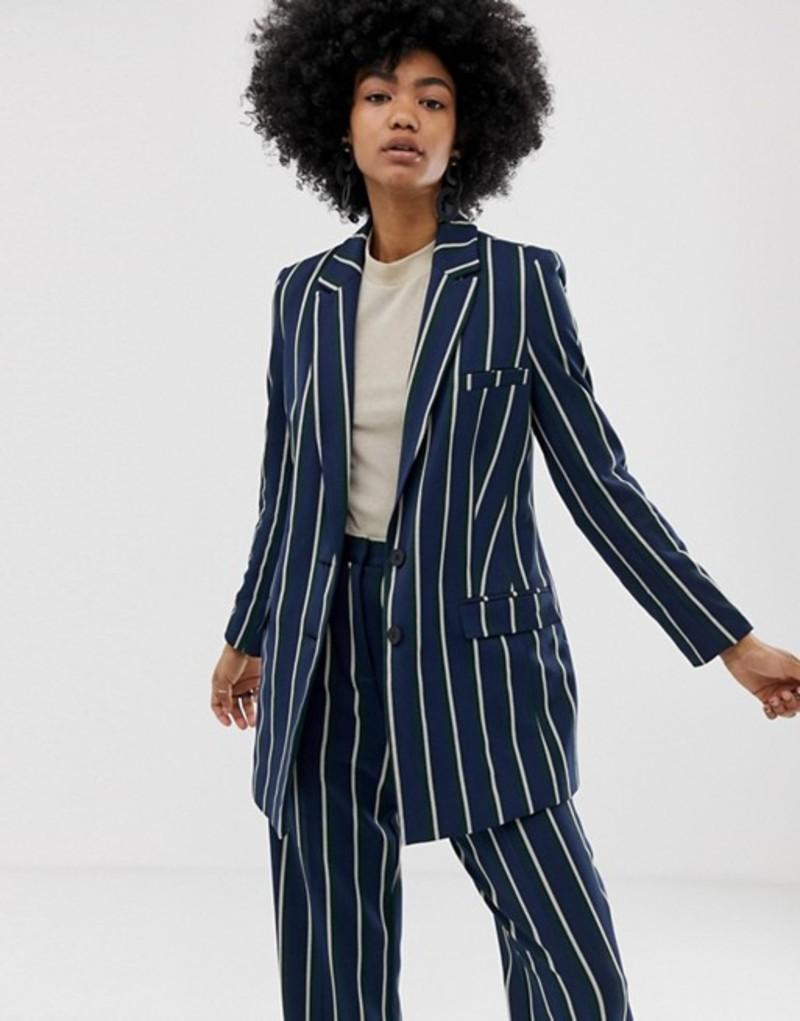 エイソス レディース ジャケット・ブルゾン アウター ASOS DESIGN regatta stripe suit blazer Stripe