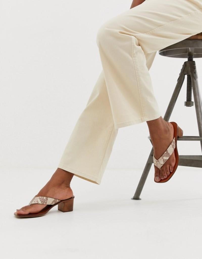 エイソス レディース サンダル シューズ ASOS DESIGN Timeless leather thong sandals in snake Snake leather