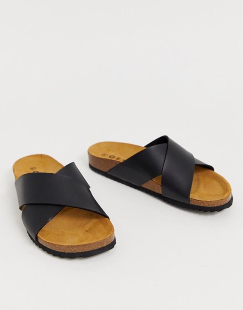 オフィス レディース サンダル シューズ Office Hoxton black slider sandals Black