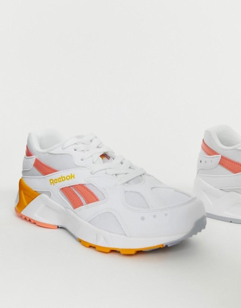 リーボック レディース スニーカー シューズ Reebok Aztrek Sneakers in white and pink White/pink