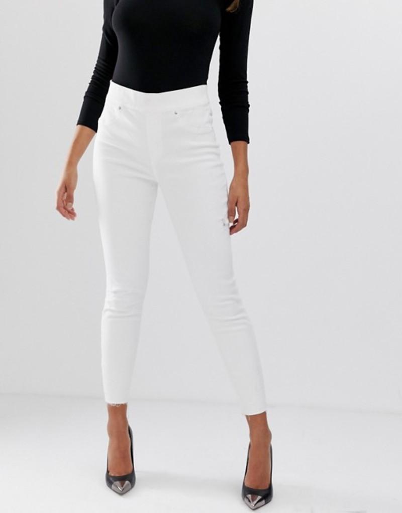 スパンク レディース デニムパンツ ボトムス Spanx distressed skinny jeans White