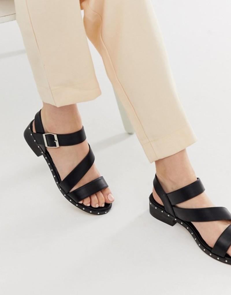 トリュフコレクション レディース サンダル シューズ Truffle Collection asymmetric kitten heel sandals Black