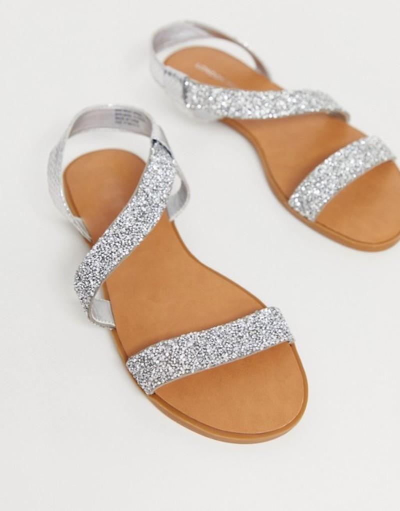ロンドンレベル レディース サンダル シューズ London Rebel embellished sandals Multi glitter