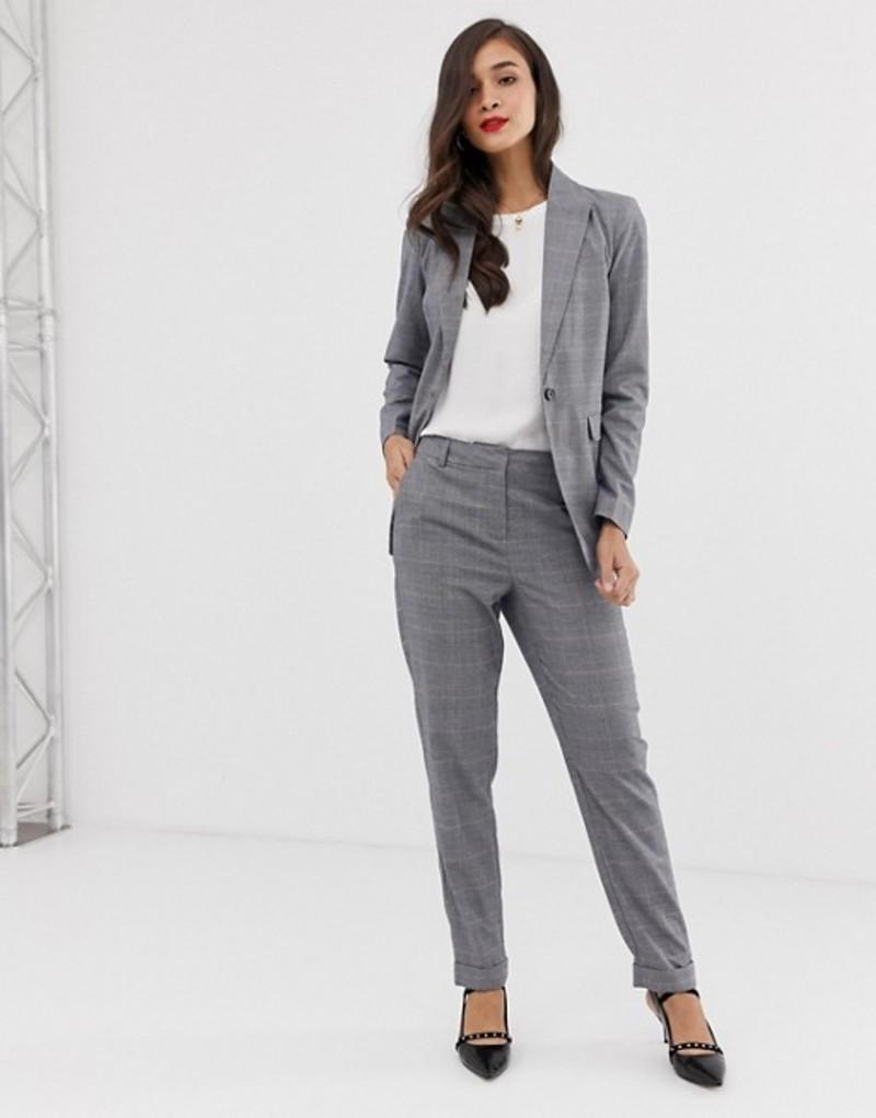 ワイエーエス レディース カジュアルパンツ ボトムス Y.A.S Thesis check two-piece tailored pants Grey check