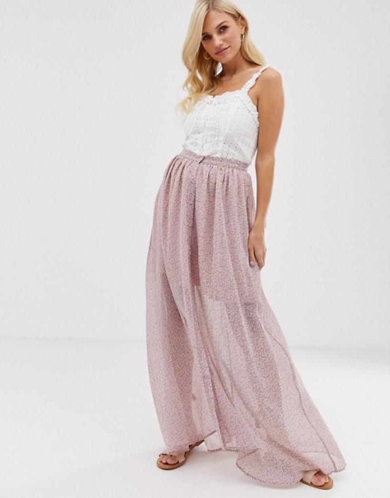 フレンチコネクション レディース スカート ボトムス French Connection Alao ditsy floral print midi skirt Teagown multi