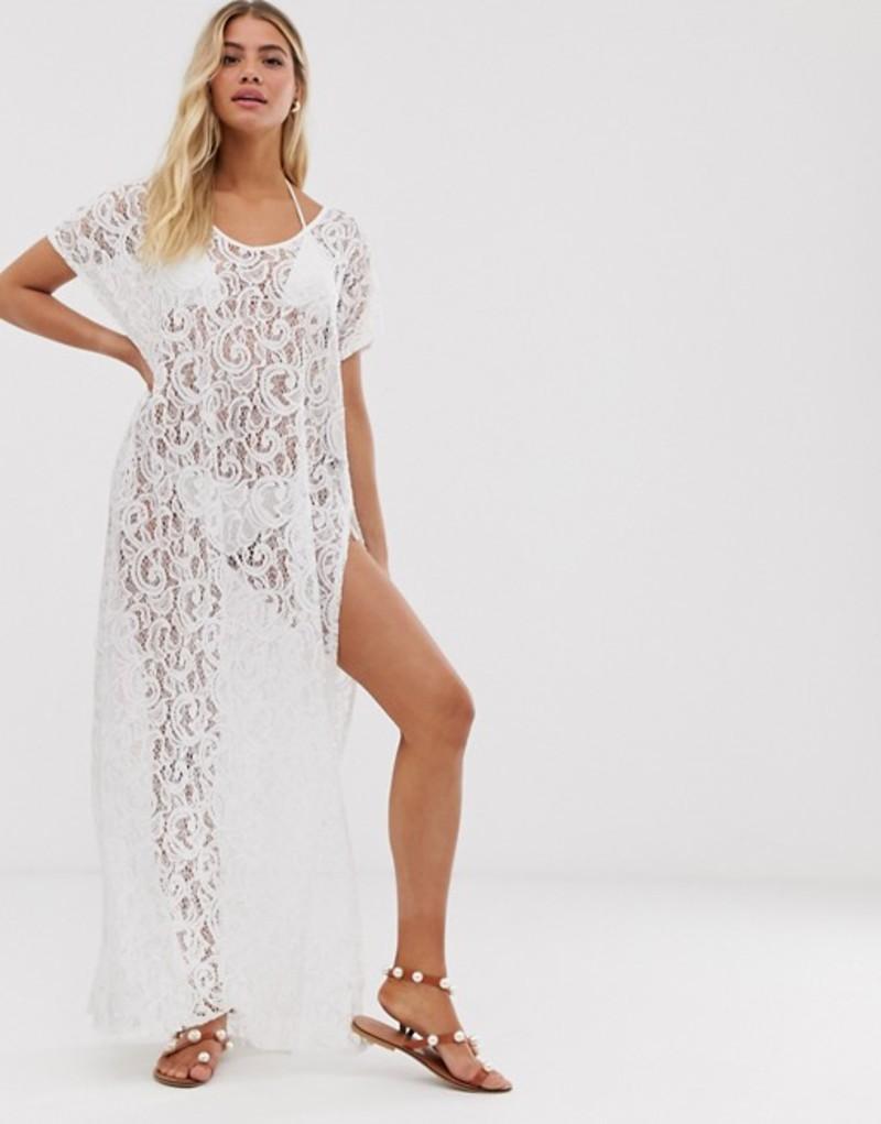 ピアロッシーニ レディース ワンピース トップス Pia Rossini Zen Maxi Cover Up in White Wh1 - white