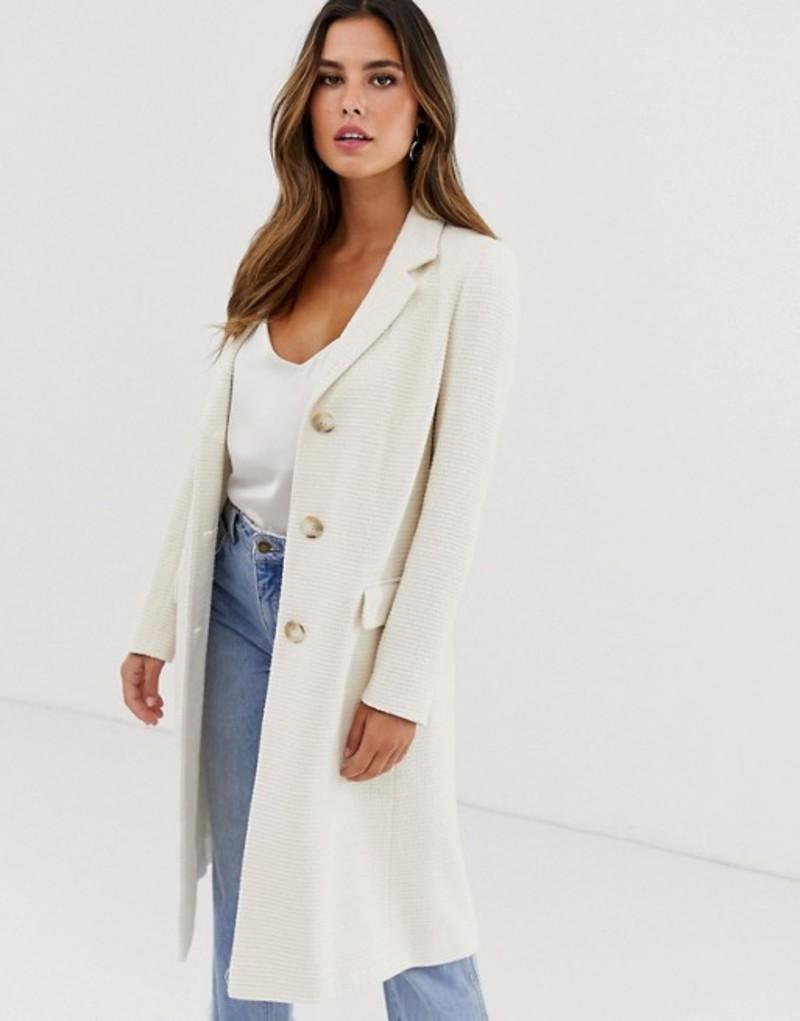 ヘレンベーマン レディース コート アウター Helene Berman College coat with mock tortoiseshell buttons Cream col 22