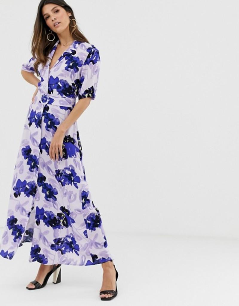 ワイエーエス レディース ワンピース トップス Y.A.S floral shirt maxi dress Multi