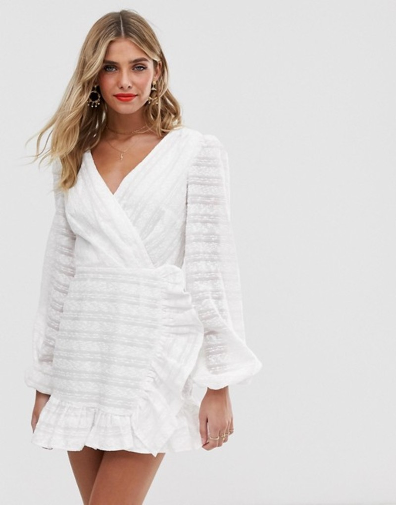 ファインダーズ キーパーズ レディース ワンピース トップス Finders Keepers Sofia long sleeve mini dress Ivory