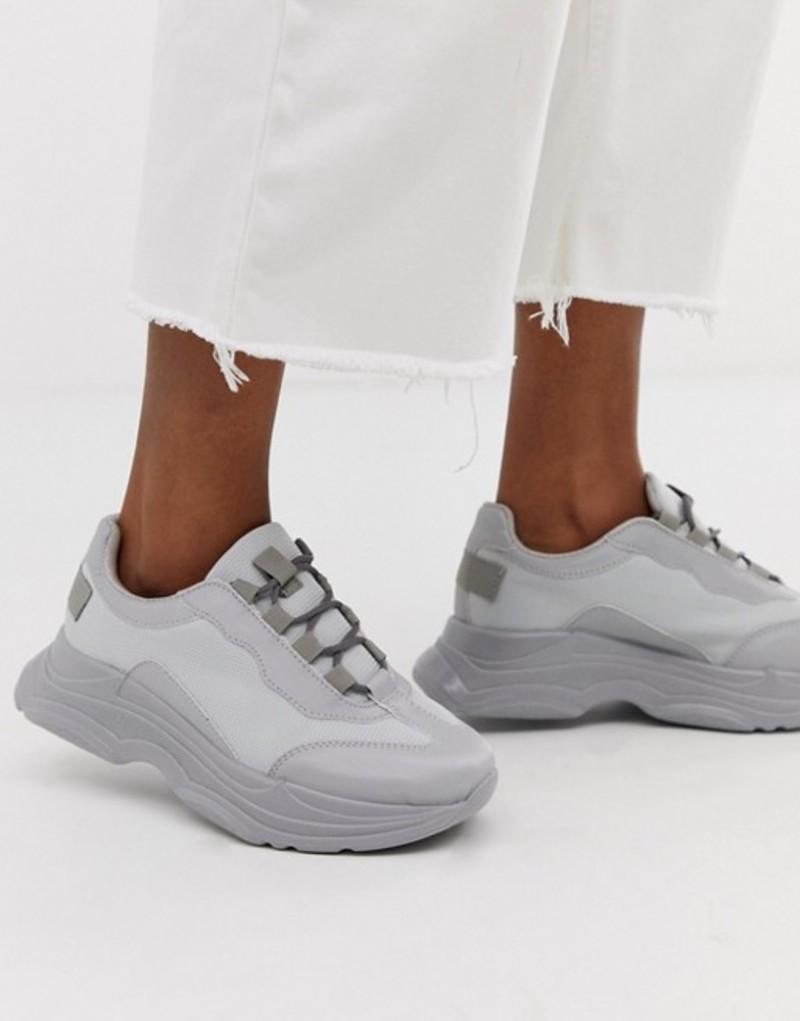 エイソス レディース スニーカー シューズ ASOS DESIGN Dare chunky sneakers in pale gray Pale grey